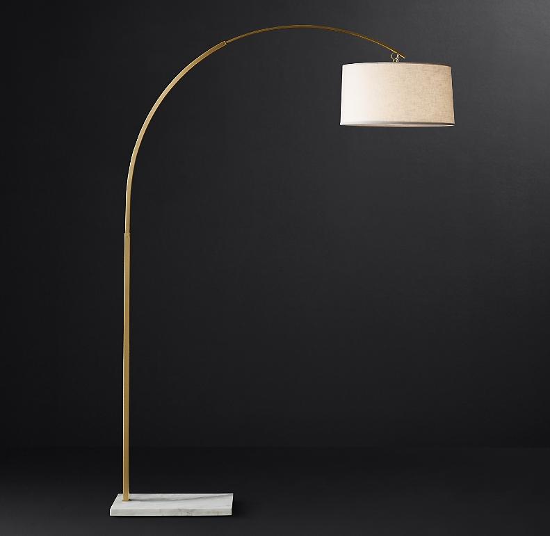 Arc Floor Lamp White Marble