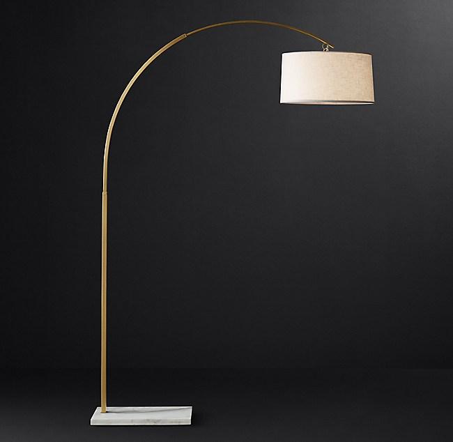 Arc Floor Lamp White Marble, Arc Floor Lamp With Marble Base