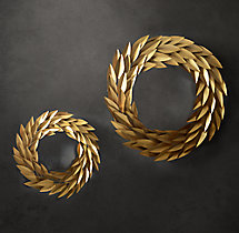 Brass Laurel Wreath