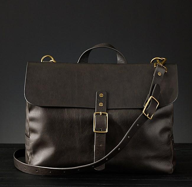 cdb94aa57a Italian Leather Messenger Bag Walnut
