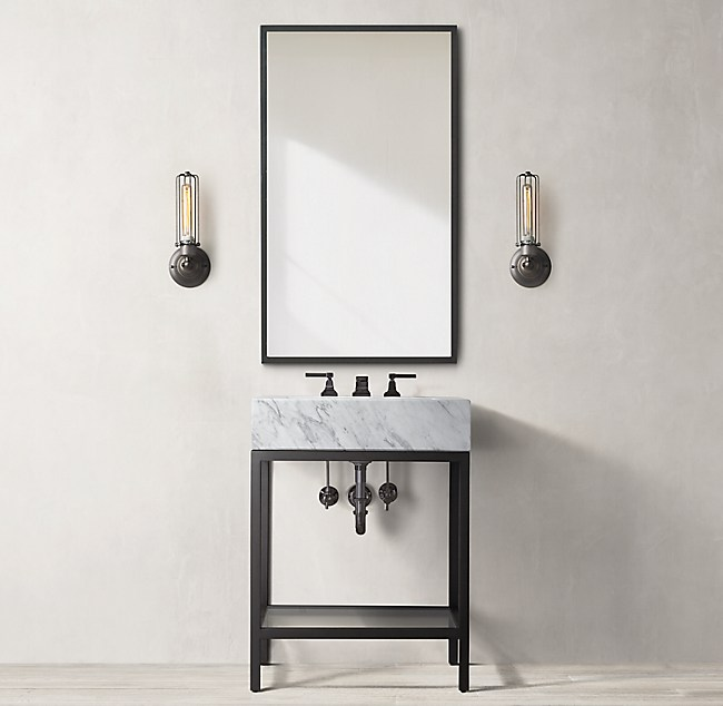 Hudson Metal Powder Washstand