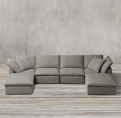 rh cloud sectional restoration hardware sectional sofas sectional collections 1963