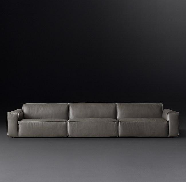 Como Modular Leather Sofa Sectional