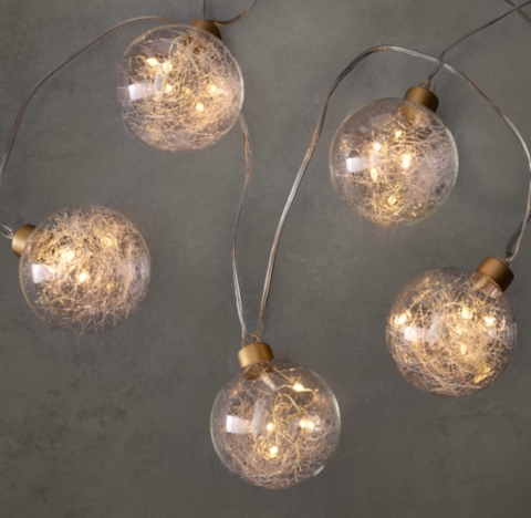 Starry String Lights Gold : Northern Globe String Lights Small - Gold