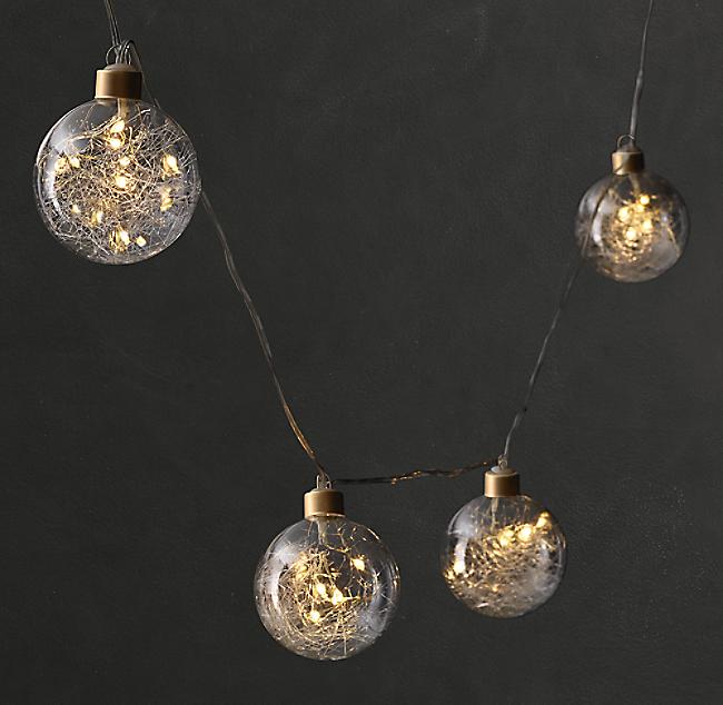 Northern Globe String Lights Small Gold