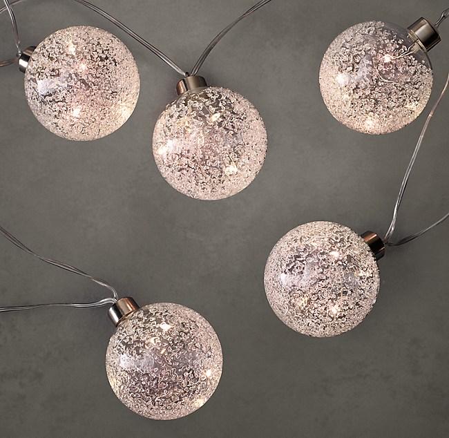 Northern Globe String Lights Small Silver