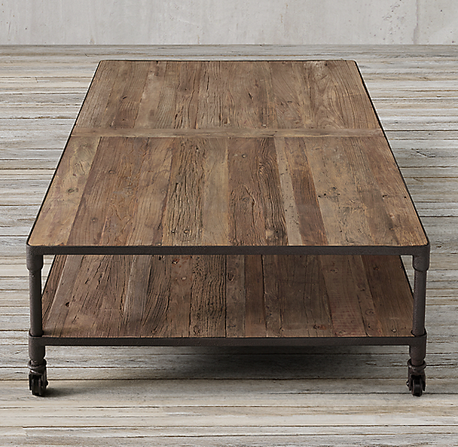 Restoration Hardware Dutch Industrial Coffee Table.Dutch Industrial 67 Coffee Table