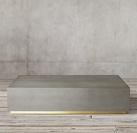 restoration hardware coffee table Graydon Shagreen Plinth Rectangular Coffee Table restoration hardware coffee table