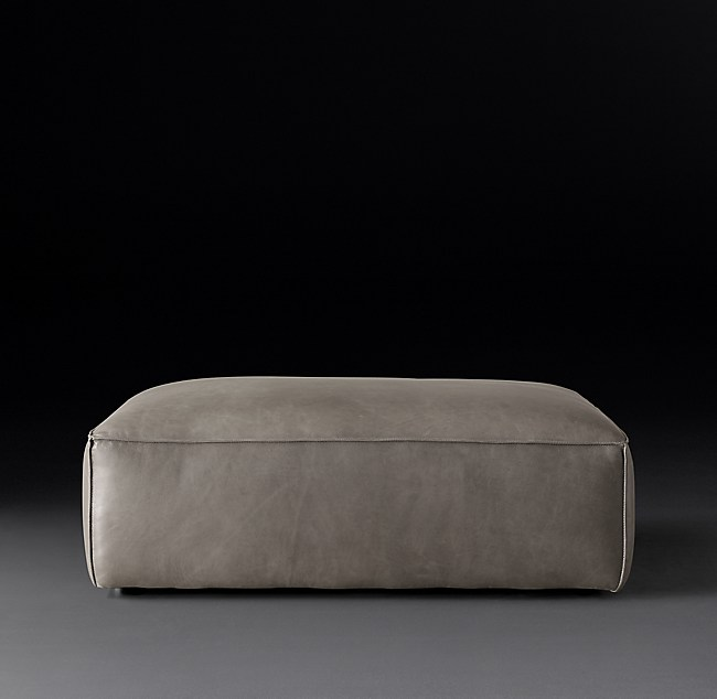 Remarkable Como Modular Leather End Of Sectional Ottoman Ncnpc Chair Design For Home Ncnpcorg