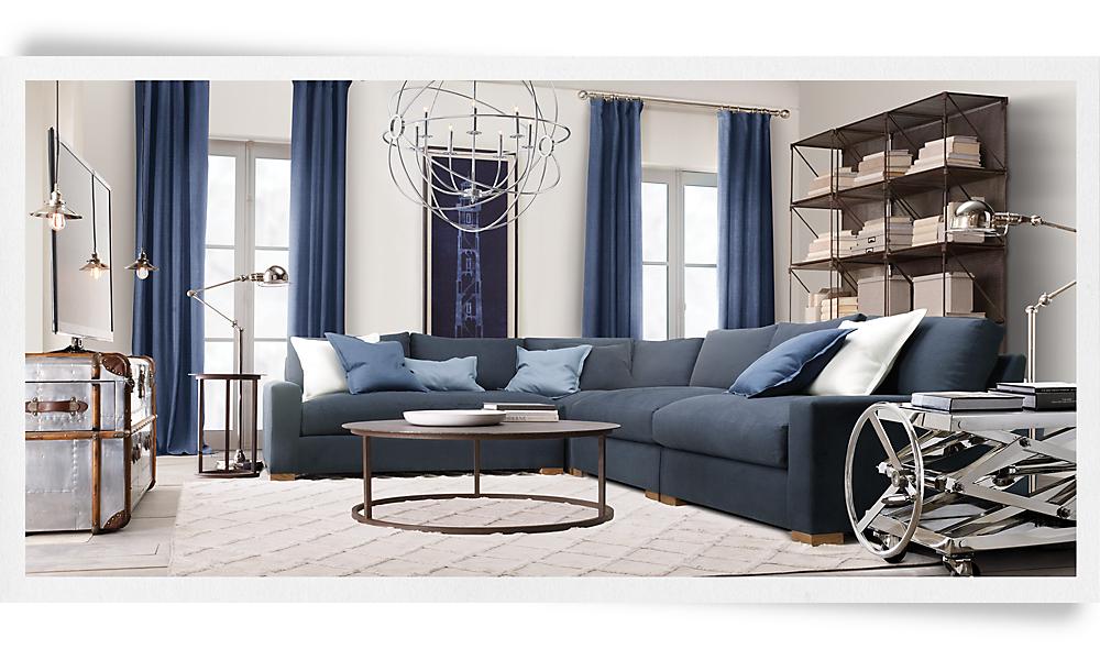 Restoration Hardware Living Room : Rh