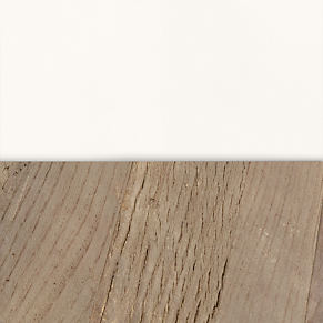 Reclaimed Natural Elm & Distressed White Metal