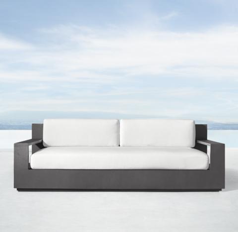 84 Marbella Aluminum Clic Sofa